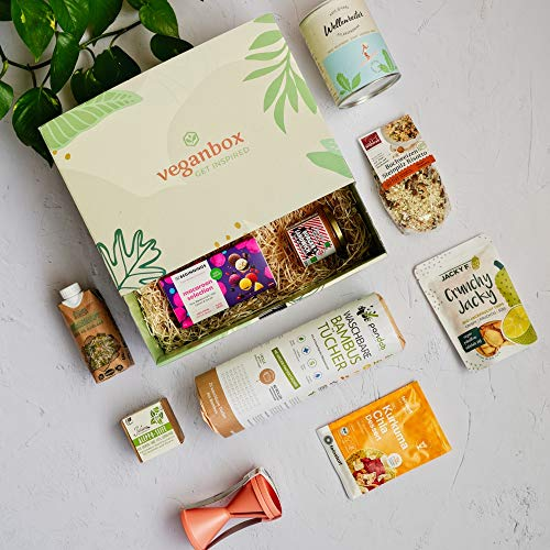 Vegan Box HighlightBox Classic, Überraschungsbox, Geschenkbox, vegane Lebensmittel, vegane...