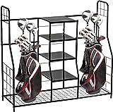 Home-it Golf Bag Sports Dual Golf Storage Organizer Golf Organizer Rack