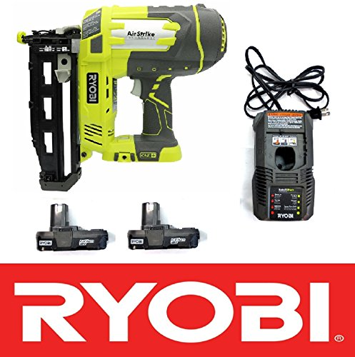 Ryobi 18v Airstrike 16-Gauge 3/4-2-1/2in Cordless Nailer P325 + P118 Charger & (2) P102 Batteries (Renewed)