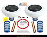 Solar Swimming Pool Ionizer Purifier with LED (ON if Unit Works) with Threaded Basket (99% Anode Usage) - 2 Units - Shipping Available to PO Box(s), HI, AK and PR - www.solarionizer.com