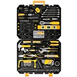 Mechanics Tool Set 198-Piece, Household Tool Kit Set with Tools Box Case for Men and Women