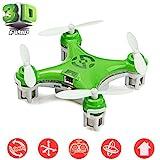 Cheerson® CX-10 Mini Drone Nano Cuadricópteros RTF - 4 Canales 6 Ejes Gyro 360 Grados 2.4G RC Minicóptero con Luz LED (Verde)