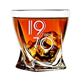 1970 50th Birthday Gifts for Men, Funny 50 Birthday Present Ideas for Dad Husband Brother Him, Vintage Bourbon Whiskey Glass Gifts, Anniversary 50 Year Old Bday Party Decorations