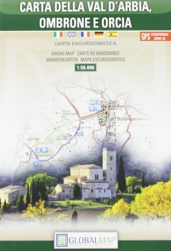 Global map. Carta della Val D'Arbia, Ombrone e Orcia