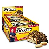 FITCRUNCH Peanut Butter Protein Bar, High Protein, Low Carb, Gluten Free, 9 Count Snack Size
