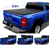 Tyger Auto Black Top T3 Soft Tri-Fold Truck Tonneau Cover for 2014-2019 Chevy Silverado/GMC Sierra 1500 2015-2019 2500 3500 HD 2019 Classic ONLY Fleetside 6.5' Bed TG-BC3C1007
