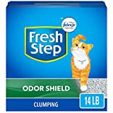 Fresh Step Odor Shield Scented Litter with The Power of Febreze, Clumping Cat Litter (Packaging May Vary)