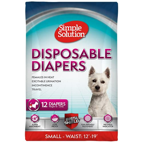 Simple Solution Disposable Diapers, Small (12 Pack)