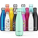Proworks Bottiglia Acqua in Acciaio Inox, Senza BPA Vuoto Isolato Borraccia Termica in Metallo per Bevande Calde per 12 Ore & Fredde 24 Ore, Borraccia per Sport e Palestra - 1 Litre - Neo Menta