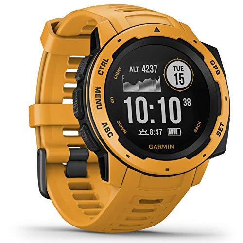 Garmin Instinct - wasserdichte GPS-Smartwatch mit Sport-/Fitnessfunktionen und bis zu 14 Tagen Akkulaufzeit. Herzfrequenzmessung am Handgelenk, Fitness Tracker und Smartphone Benachrichtigungen