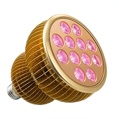 LED Grow Light Bulb, TaoTronics Full Spectrum Grow Lights for Indoor Plants, Grow Lamp, Plant Lights for Hydroponics, Organic Soil (All Wavelengths, FREE E26 Socket)