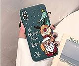 Zyj stores Phone 12 Caja del teléfono de la Caja Dibujos Animados con el iPhone 11 12 MAX X XS XR 2020 SE Pro MAX Compatible con el iPhone 6 7 8 6S Plus Silicone Santa Claus TPU Caso Sili