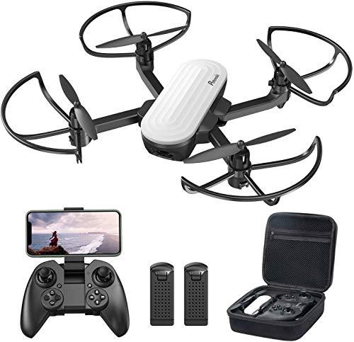 Potensic Drone Pieghevole con Fotocamera 2K Quadricottero FPV con Due Batterie da 20 Minuti Volo, Sensore di gravit, Controllo Gestuale, Flusso Ottico, modalit Senza Testa, Volo Traiettoria