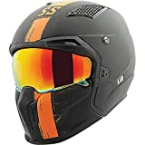 Speed and Strength SS2400 Tough As Nails Adult Street Motorcycle Helmet - Black/Orange/X-Large