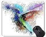 Yanteng Gaming Mouse Pad Custom, Colorful Flash Hummingbird Mouse Mat
