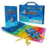Mimtom Kit de Pochoirs à Dessiner pour Enfants   Kit de 51 Pochoirs Arts...