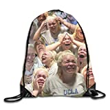 Yuanmeiju Mochila con cordón Tumblr Aesthetic Vsco Drawstring Backpack Sport Gym Bags Storage Goodie Cinch Bag
