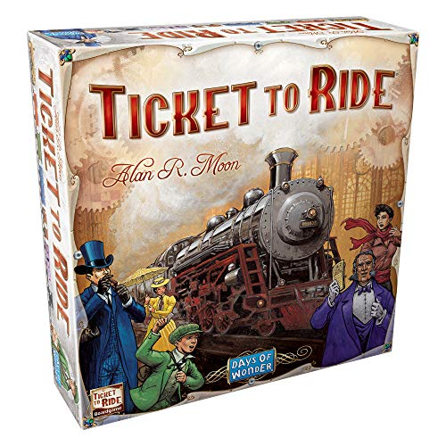Ticket to Ride Board Game | Family Board Game | Board Game for Adults and Family | Train Game | Ages 8+ | For 2 to 5 players | Average Playtime 30-60 minutes | Made by Days of Wonder (Toy)