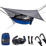 Easthills Outdoors Jungle Explorer Hamac de camping portable double avec moustiquaire amovible et sangles...
