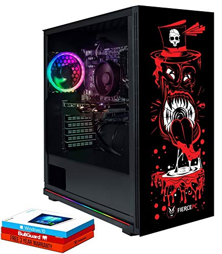 Fierce Enforcer High-End RGB Gaming PC - Veloce 4.2GHz Hex-Core AMD Ryzen 5 3600, 240GB SSD, 1TB Disco Rigido, 16GB 3000MHz, NVIDIA GeForce RTX 2070 Super 8GB, Windows 10 installato 981949