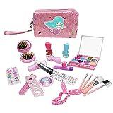 haohaiyo Juego de maquillaje para niños, 22 unidades, lavable, ideal para niñas pequeñas y niños