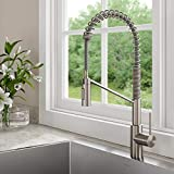 Kraus KPF-2631SFS Oletto Single Handle Commercial Kitchen Faucet, 21.85 inch, Pull Down Stainless Steel