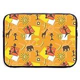 Africa Animals Bolsas para computadora portátil Compatible con Tableta Netbook de 15 ″, Maletín con Funda Pringting Funda para Bolso con Funda