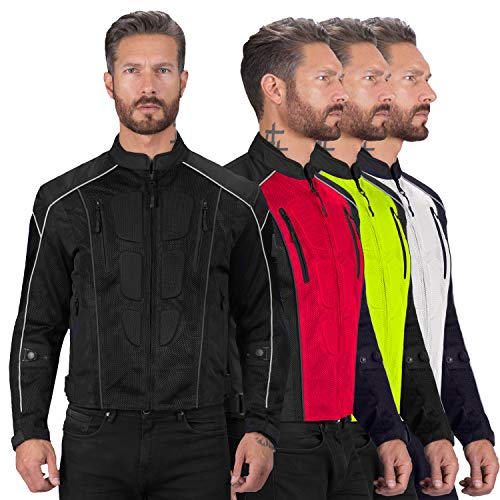 Viking Cycle Textile Warlock Biker Mesh Motorcycle CE Armor Jacket for Men Black