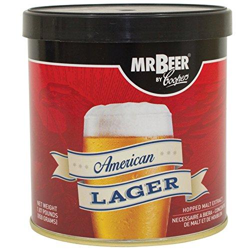 Mr. Beer 60951 American Lager Beer Refill Kit, 2 Gallons