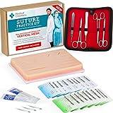 Kit práctico de sutura con Guía de Entrenamiento en formato Ebook: Almohadilla de Sutura Reutilizable de Silicona con Kit de Herramientas – para Estudiantes de Medicina, Enfermería y Veterinaria