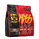 Mutant Mass Weight Gainer Protein Powder – Build Muscle Size and Strength with 1100 Calories – 56 g Protein – 26.1 g EAAs – 12.2 g of BCAAs – 5 lbs – Triple Chocolate