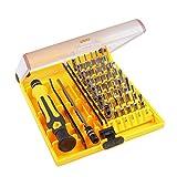 QH-Shop Juego de Destornilladores, Set de Destornillador 45in 1 Kit de Herramientas con Pinzas y Eje de Extensión para Teléfonos PC Dispositivos Electrónicos de Mantenimiento Electrónico