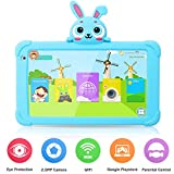Tablet for Kids, 7 inch Tablet for Toddler HD IPS Display 1G+16GB Quad Core Android 9.0 Tablets with WiFi Camera Safety Eye Protection Parental Control Kids Learning Tablet (Blue)