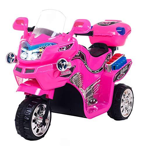 Ride on Toy, 3 Wheel Motorcycle for Kids, Battery Powered Ride On Toy by Lil' Rider  Ride on Toys for Boys and Girls, 2 - 5 Year Old - Pink FX