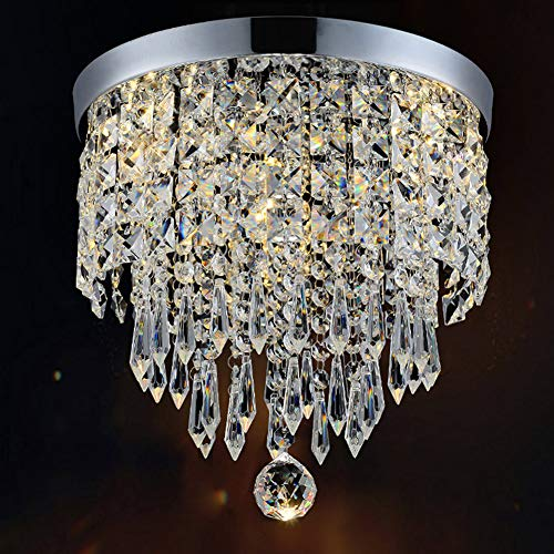 Hile Lighting KU300074 Modern Chandelier Crystal Ball Fixture Pendant Ceiling Lamp H10.43' X W8.66', 1 Light