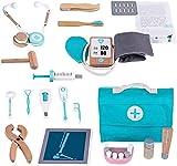 XXXVV 2 en 1 Maletin Medicos Botiquin Juguetes Doctora Disfraz Enfermera Accesorios con Luces y Sonidos Juegos de Imitación para Niños Niñas 3 4 5 6 Años (Azul)
