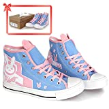 Girl's Shoes Canvas Blue Flats Cosplay Costume Grils Accessories Womens