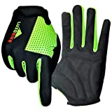 LuxoBike Cycling Gloves MTB Mountain Bike Gloves Biking Gloves Men Women Road Bicycle Bicycling BMX – Breathable Antiskid Shock Absorbing Pad – Touch Recognition Full Finger Glove