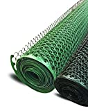 Garden Fence Boen Poultry hex Netting Plastic Temporary Barrier Chicken Wire Protection for Yard (3'...