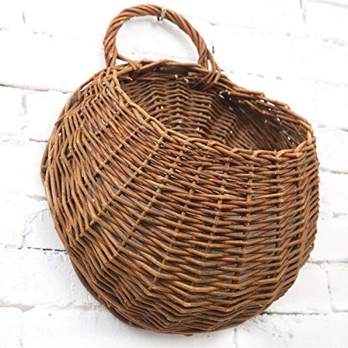 MOTINA Handmade Woven Hanging Basket Natural Wicker Handed Storage...