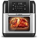 Aobosi Friteuse à air chaud,Friteuse sans huile,10L Mini-four,Multifonction 10 Programmes,Affichage LCD,Déshydrateur de fruits,Barbecue,Four et Gril...