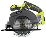 Ryobi One P505 18V Lithium Ion Cordless 5 1/2' 4,700 RPM Circular Saw (Battery Not Included, Power Tool Only), Green