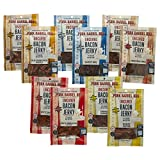 Pork Barrel BBQ Bacon Jerky Whole Hog Sampler Pack, 2 Packages each of Five Great Flavors