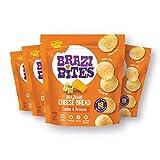 Brazi Bites Gluten-Free Brazilian Cheese Bread: Cheddar & Parmesan VegetarianFrozen Bread Snacks Soy-Free  No Artificial Ingredients No Preservatives   11.5 oz. pouches (4-pack)