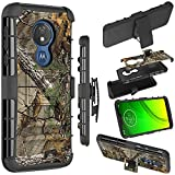 Zoeirc Moto G7 Power Case,Moto G7 Supra Case, Moto G7 Optimo Maxx Case, [Heavy Duty] Armor Shock Proof Dual Layer Phone Case Cover with Kickstand & Belt Clip Holster for Motorola Moto G7 Power (camo)