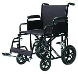 Heavy Duty Transport Chair Black/20' seat to floor/400 lb./Oversized