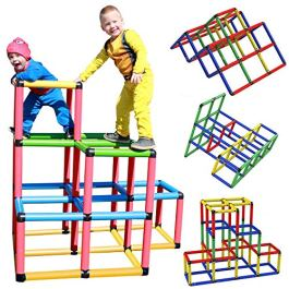 Funphix Climbing Gyms- Stem Learning Colorful Buildable Indoor Outdoor Play Structure for Kids Aged 2-12 Years