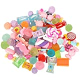 12pcs/lot Resin Lollipop Candy Cabochons DIY Cream Mobile Shell Material Children's Hair Accessories (Style 1)