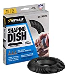 Kutzall Extreme Shaping Dish - Very Coarse, 4-1⁄2' (114.3mm) Dia. X 7⁄8' (22.2mm) Bore - Woodworking Angle Grinder Attachment for DeWalt, Bosch, Milwaukee, Makita. Abrasive Tungsten Carbide, DW412X120