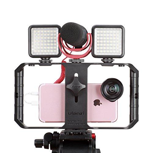 ULANZI U Rig Pro Smartphone Video Rig, iPhone Custodia Filmmaking Case, Phone Video Stabilizzatore Grip Treppiede Mount per Videomaker Film-maker Videografo per iPhone X 8 Plus Sumsang